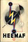 click to enlarge: HEEMAF / Cassandre, A. M. Heemaf - Post, 1936 nr 29. Containing the original print-design by A. M. Cassandre.