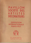 click to enlarge: Monzie, De Pavillon Société des Artistes Décorateurs. Exposition Internationale Paris 1937. Special august-issue of 'Mobiliet et Décoration'.