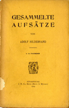click to enlarge: Hildeband, Adolf Gesammelte Aufs�tze..