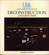 click to enlarge: Glusberg, Jorge (editor) Deconstruction. A student guide.